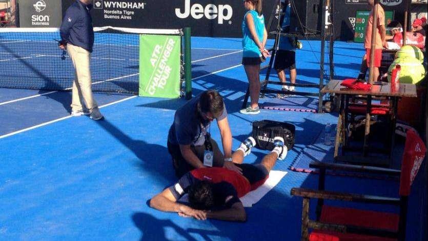 Berlocq se lesionó y quedó eliminado ante Mayer en el Challenger de Tigre