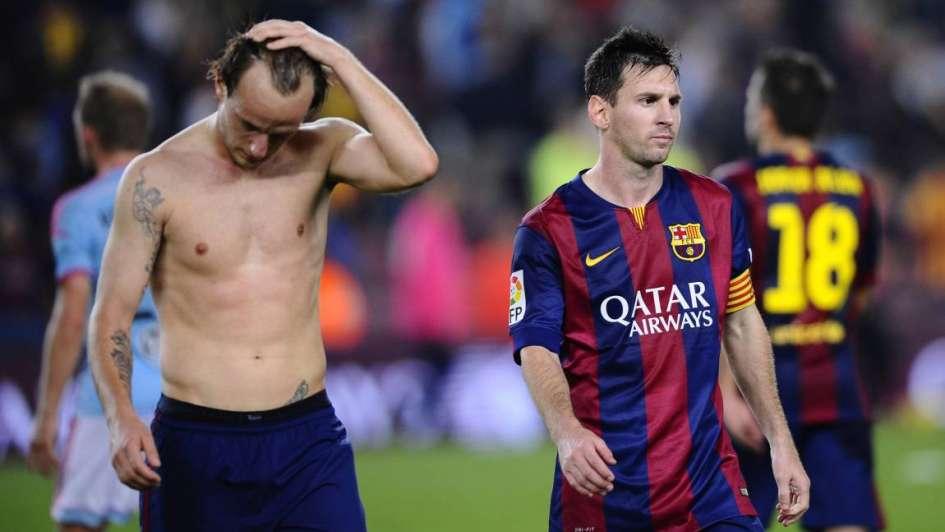 Un argentino amargó a Barcelona y privó a Messi del record