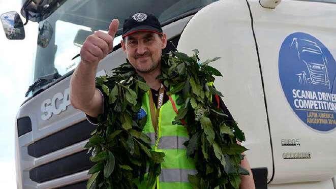 Scania premió al mejor conductor de camiones