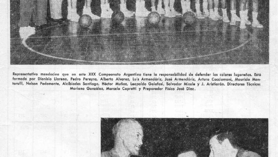 Mendoza sede del Argentino de 1963