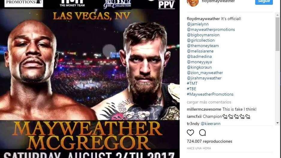 La espera llegó a su fin: se conoció la fecha de la pelea entre Mayweather y McGregor