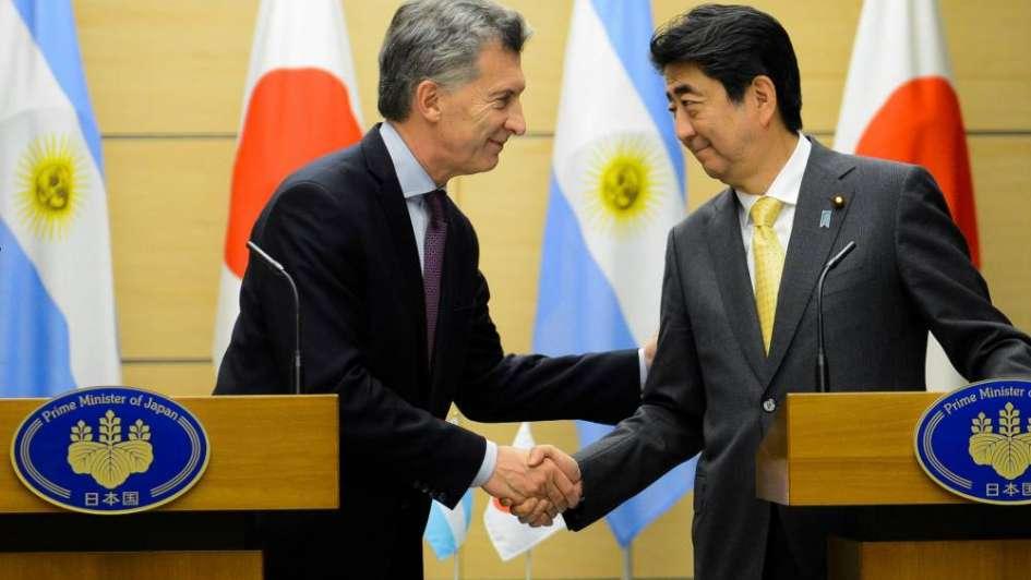 Macri cerró la primera jornada en Japón con un encuentro con el primer ministro Shinzo Abe