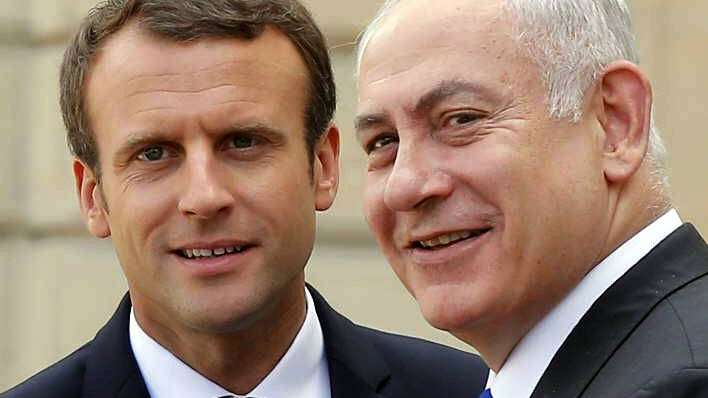 Francia: Macron pidió a Netanyahu reanude tratativas de paz