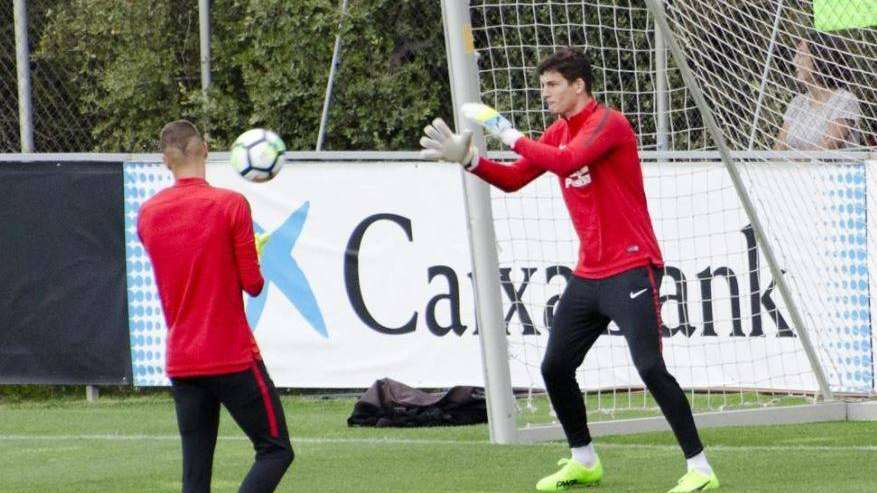 Tras su fugaz paso por Boca, Axel Werner entrenó con el Atlético de Madrid