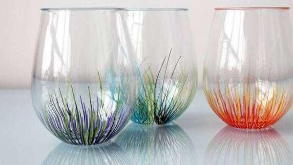 Pint tus vasos de vidrio y convertilos en obras de arte - Se puede pintar el aluminio ...