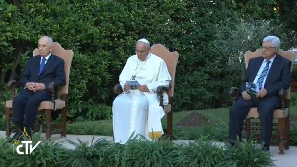 Histórico rezo por la paz del Papa, Peres y Abbas