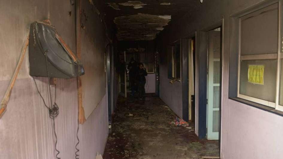 Saqueo e incendio del jardín: tristeza en toda la comunidad
