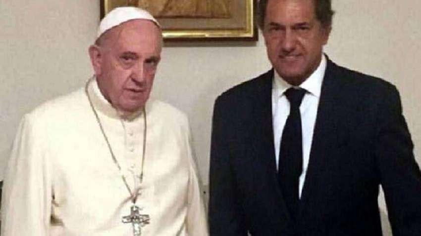 El papa recibió  a Scioli  en Roma
