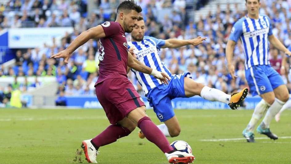 Mirá el golazo del Kun Agüero en la victoria del Manchester City