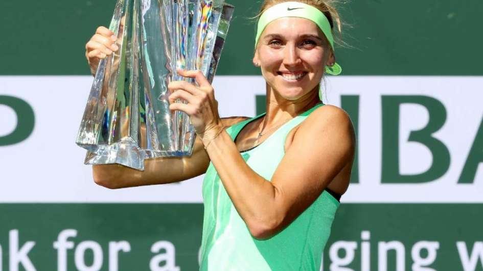 La rusa Elena Vesnina se quedó con el torneo de Indian Wells