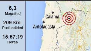 Fuerte sismo sacudió el norte de Chile y se sintió en Jujuy