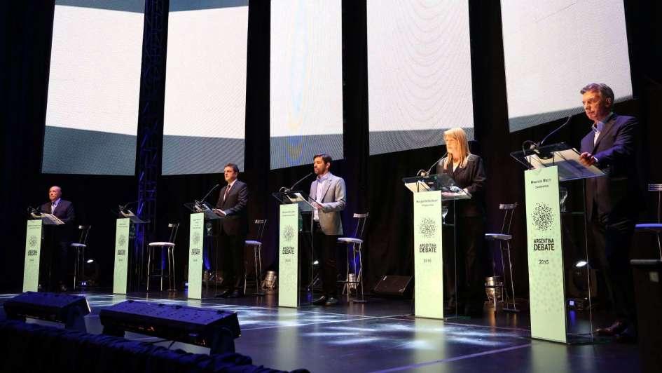 Un histórico primer debate presidencial en la Argentina