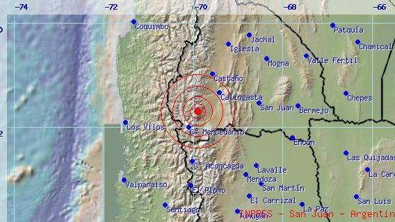 Temblor de 5.2 grados Richter en San Juan se sintió en Mendoza