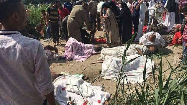 Terrible choque de trenes en Egipto causó 36 muertes