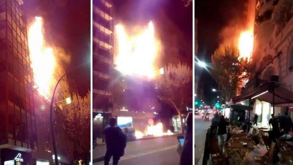 Recoleta: se incendió un edificio en Santa Fe y Callao