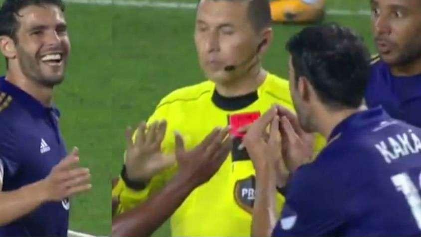 Insólito: Kaká vio la roja por hacerle una broma a un rival