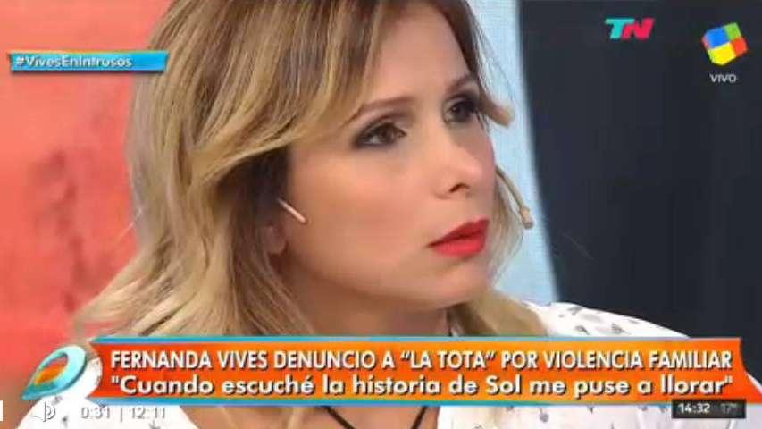 Fernanda Vives contó que perdió un embarazo por los golpes que la daba la Tota Santillán