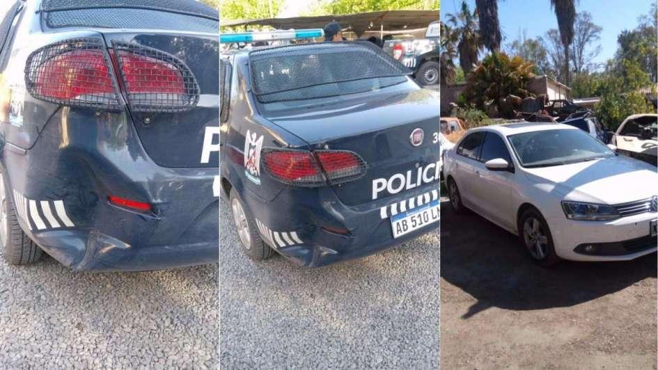 Un joven chocó contra un móvil policial y huyó en contramano durante un control en Lavalle