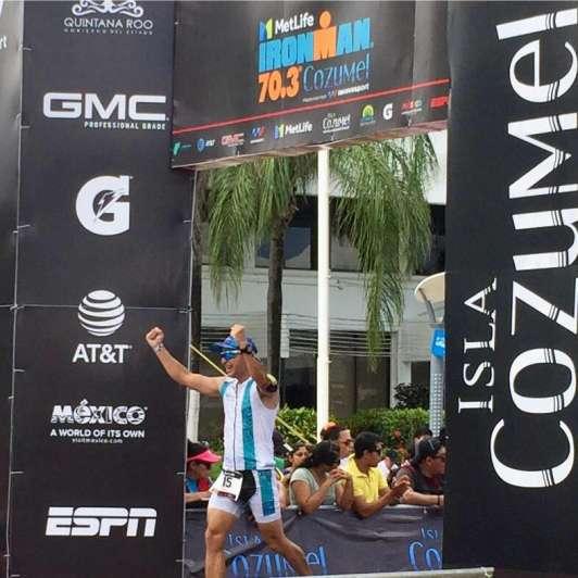 Desempeños admirables de dos mendocinos en el Ironman 70.3 de Cozumel