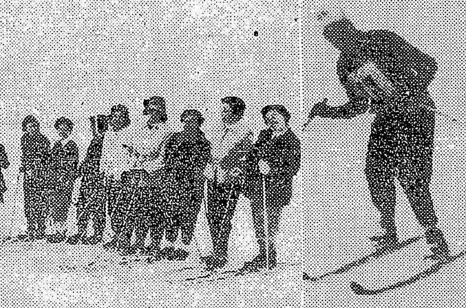Efemérides 8 de octubre  de 1950: torneo especial de esquí en Vallecitos