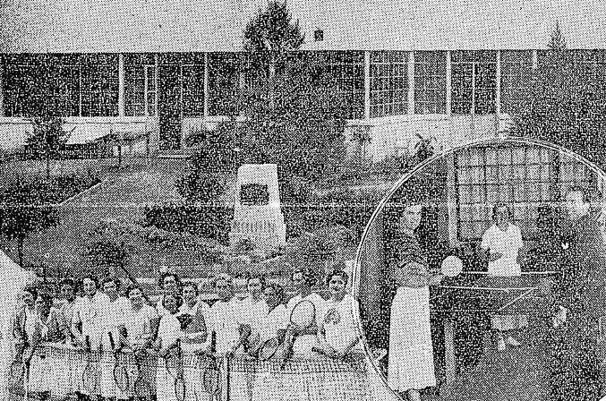 Efemérides 8 de octubre  de 1932: el 20 aniversario del Andino Tenis Club