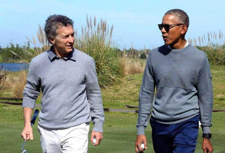 Macri y Obama, charlas a solas y golf