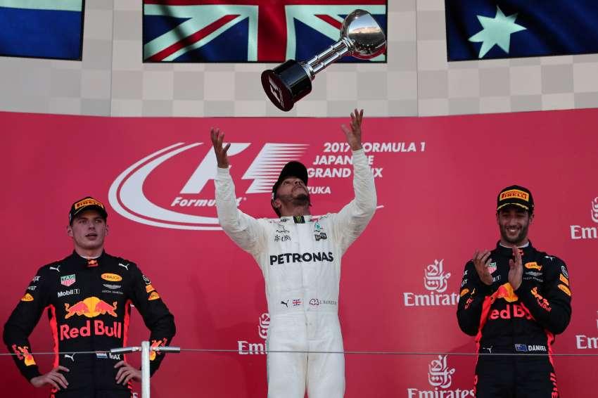 F1: Hamilton se quedó con el GP de Suzuka