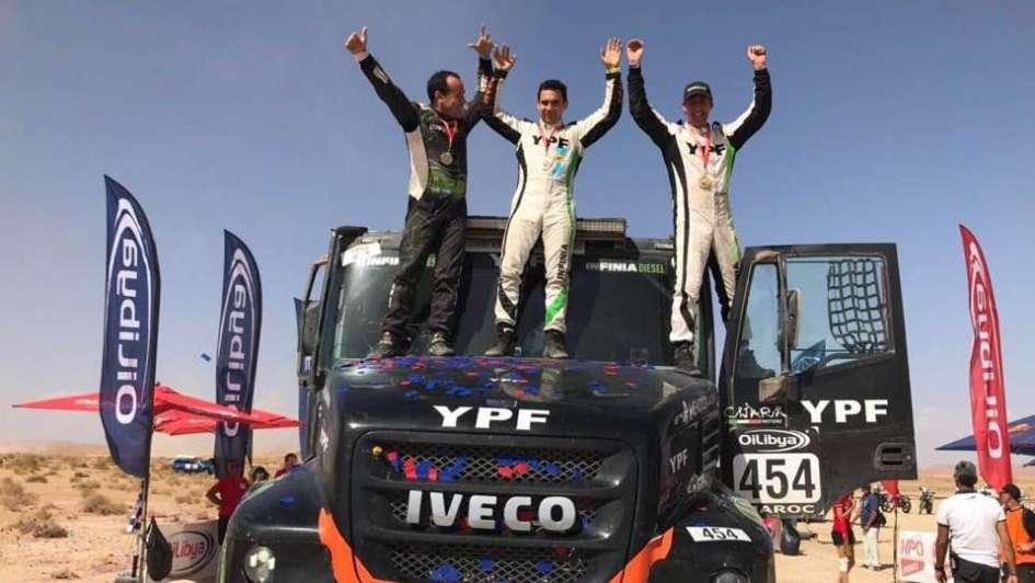 Villagra junto a los mendocinos Yacopini y Torlaschi ganaron el rally de Marruecos