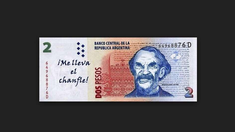 Veinte billetes de $2 intervenidos que quedarán para la historia