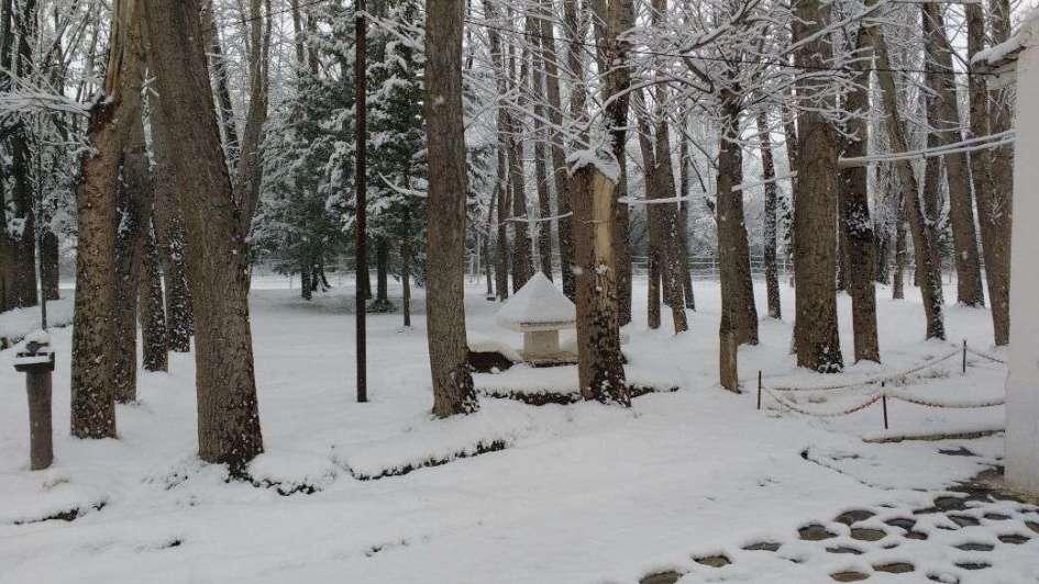 Frío y nieve como en pleno invierno