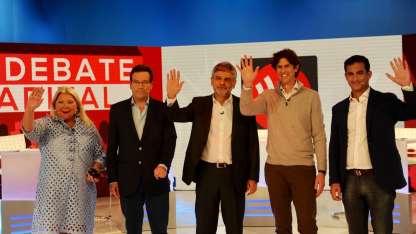 Los cuatro candidatos se sacaron chispas en TN