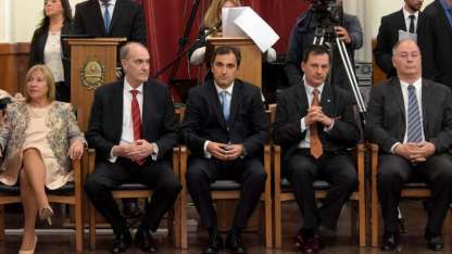 Los nuevos camaristas: Olga de Arrabal, Porras, Pérez Curci, Pizarro y Castiñeira de Dios.