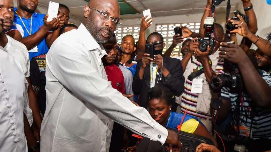 El mejor futbolista de la historia de África sería el nuevo presidente de Liberia