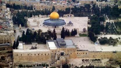 La mezquita de Al-Aqsa., los judíos la llaman el Monte del Templo.