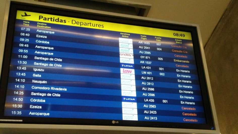 Se reactivan vuelos de Aerolíneas en el país pero en Mendoza hay varios cancelados