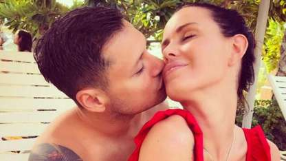 Natalie Weber y Mauro Zárate