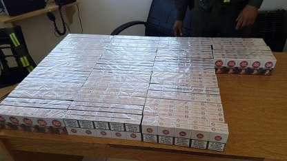 Parte de los cigarrillos secuestrados en Tupungato.