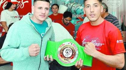 """Sergio """"Gauchito"""" Gil y el campeón, Nahuel Galesi, en  un combate que promete un gran espectáculo,"""