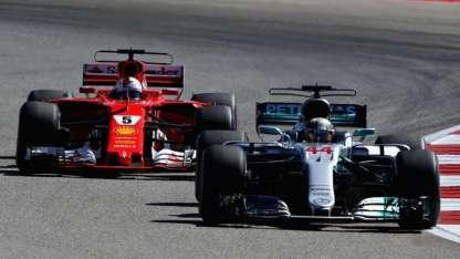 Hamilton terminó por delante de Vettel y Raikkonen.