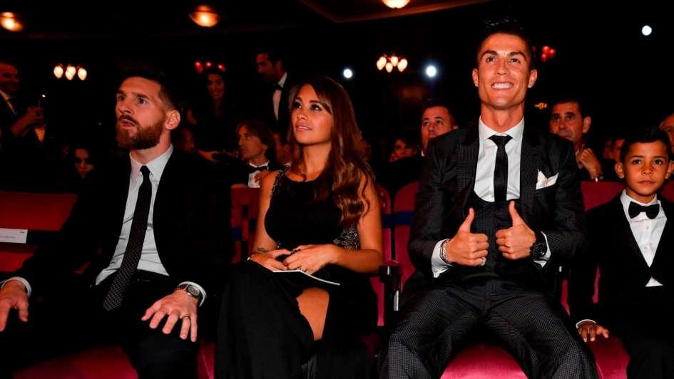 El hijo de Cristiano Ronaldo saludó a su ídolo