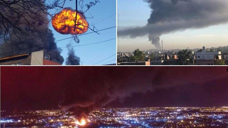 Explosión e incendio en una fábrica en San Justo
