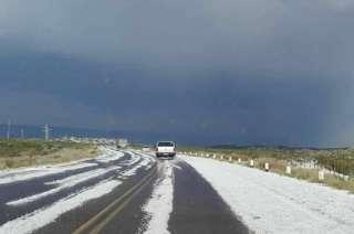 El granizo cubrió de un manto blanco sectores de Tupungato.