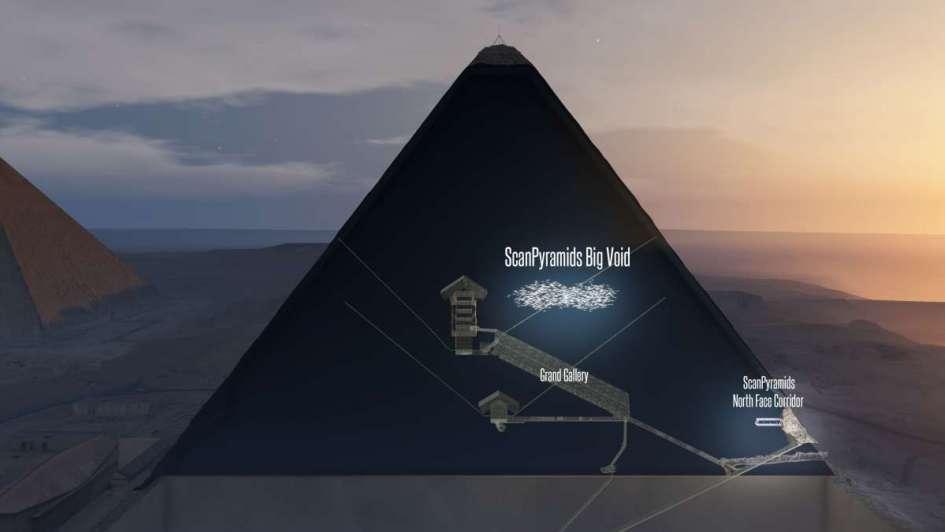 Descubren gigantesca cámara secreta en la pirámide de Keops