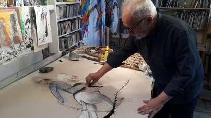 El ilustrador Luis Scafati, figura del documental