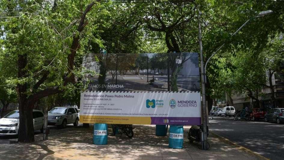 Comenzó la remodelación de la calle Pedro Molina y así quedará su nueva apariencia