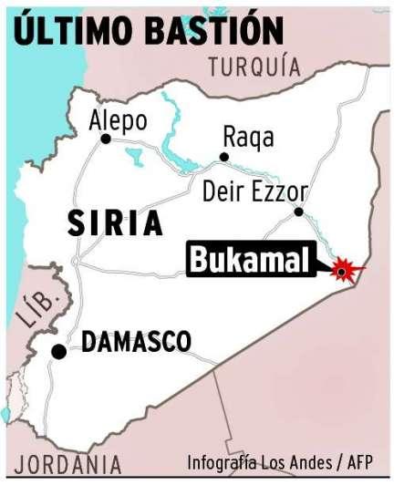 Fuerzas sirias combaten con Isis por control de ciudad fronteriza con Irak