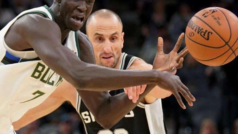 A pesar del buen aporte de Ginóbili, los Spurs cayeron ante Milkwaukee