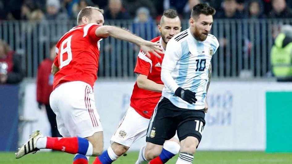 Primera prueba superada: Argentina venció a Rusia con gol del Kun Agüero