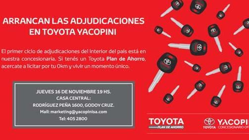 Arrancan las adjudicaciones en Toyota Yacopini