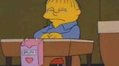Viral: dejó a su novio por WhatsApp usando memes de Los Simpson